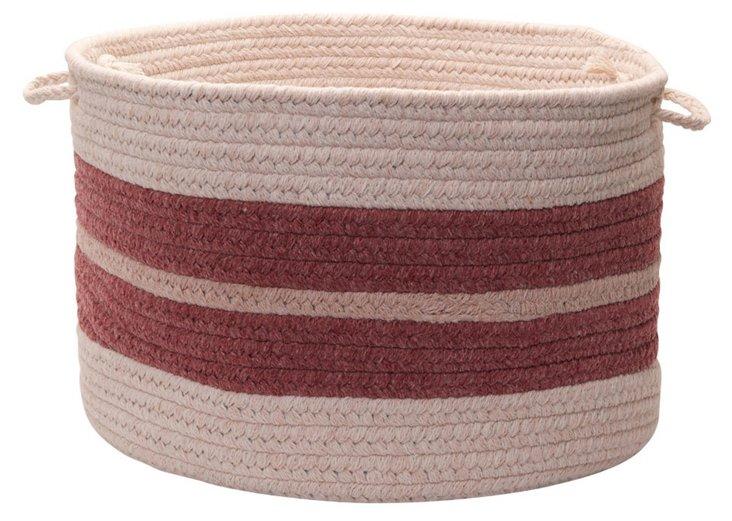 "14"" Wool Blend Basket, Mauveberry"