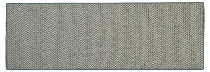 2x12 Houndstooth Runner, Teal/Natural