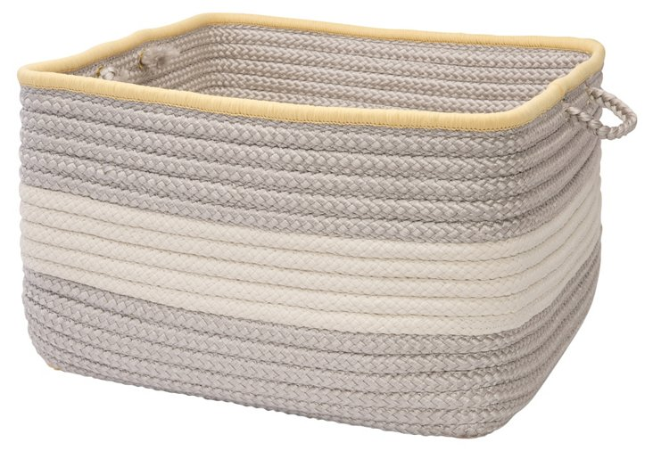 Square Color Block Basket, Shadow/Yellow