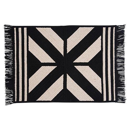 Sedona Wool-Blend Rug, Black