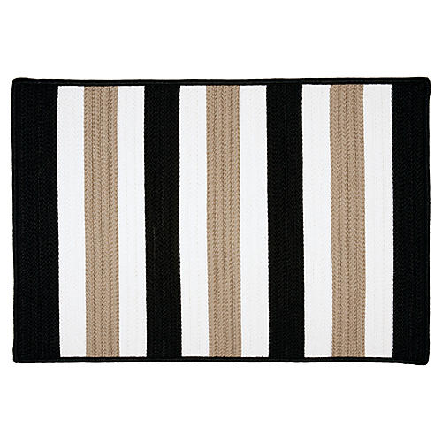 Port Smith Outdoor Rug, Black
