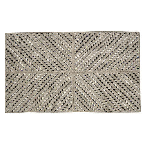 Abarrane Braided Rug, Dark Blue