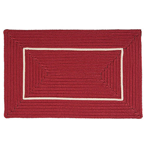 Accent Doormat, Red/White