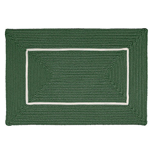 Accent Doormat, Green/White