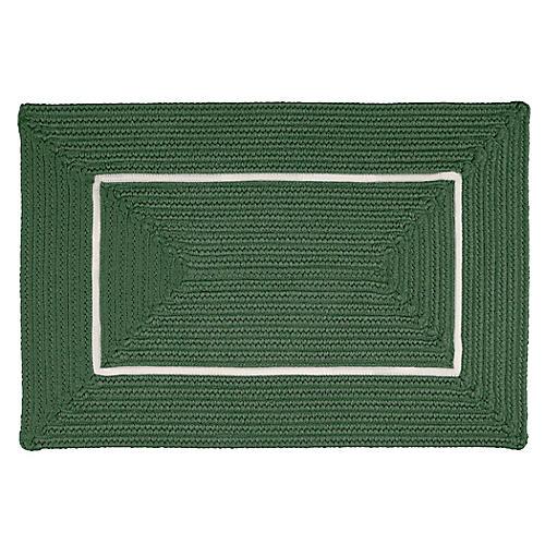 Accent Doormat, Green/White