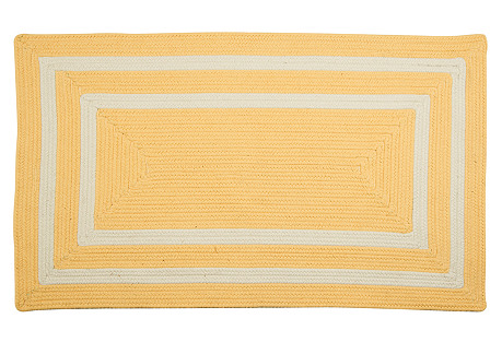Outdoor Two-Border Rug, Sun