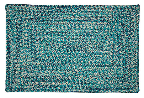Outdoor Tweed Rug, Blue
