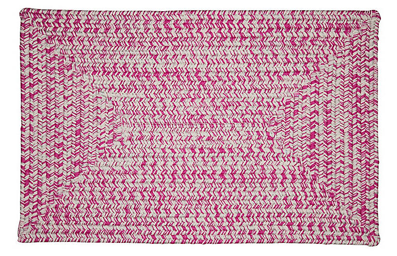 Tweed Outdoor Rug, Magenta