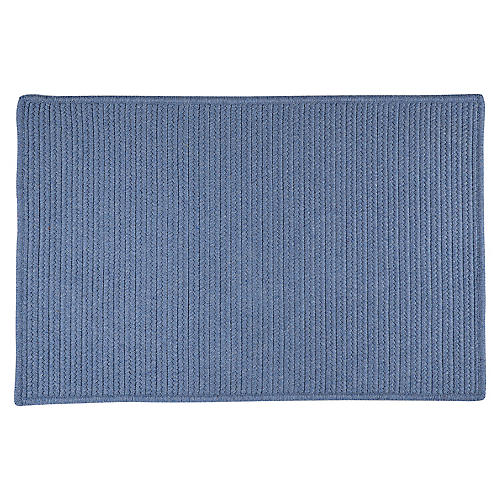 Sunbrella Outdoor Rug, Cornflower