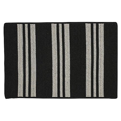 Sunbrella Stripe Outdoor Rug, Black