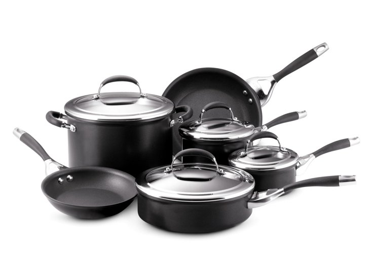 10-Pc Elite Cookware Set, Black
