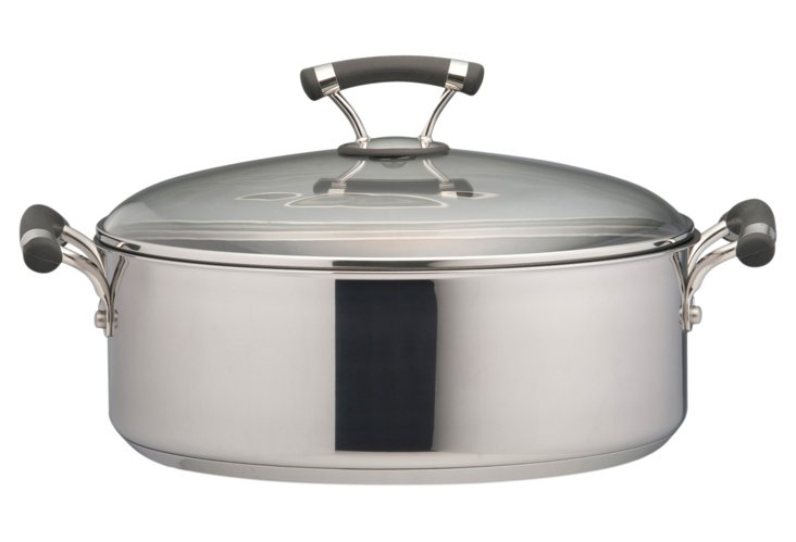 Covered Nonstick Wide Stockpot, 7.5 Qt