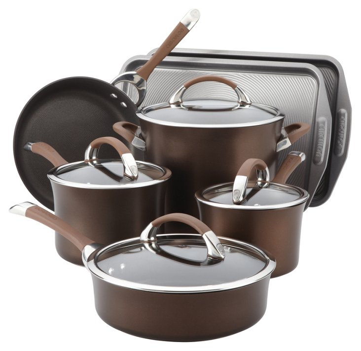 9-Pc Cookware Set w/ 2-Pc Bakeware Bonus