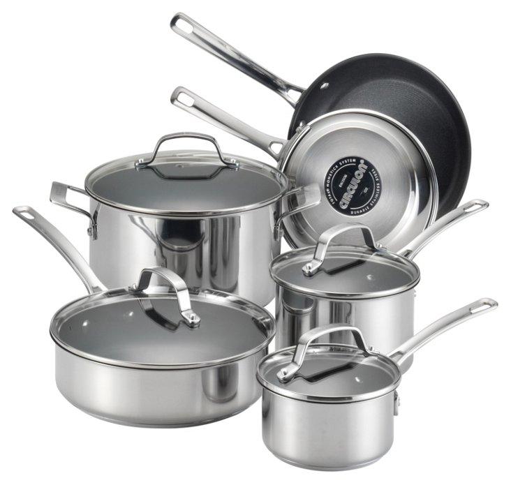 10-Pc Nonstick Cookware Set