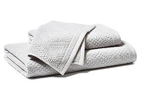 3pc Chevron Jacquard Towel Set, Dove