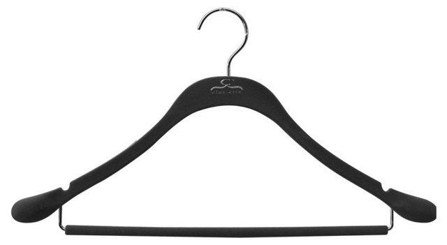 S/20 Slim Suit Hangers, Black/Chrome