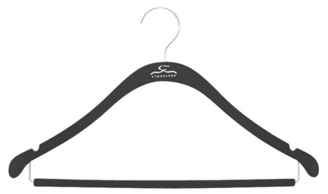 S/20 Slim Shirt Hangers, Black/Chrome