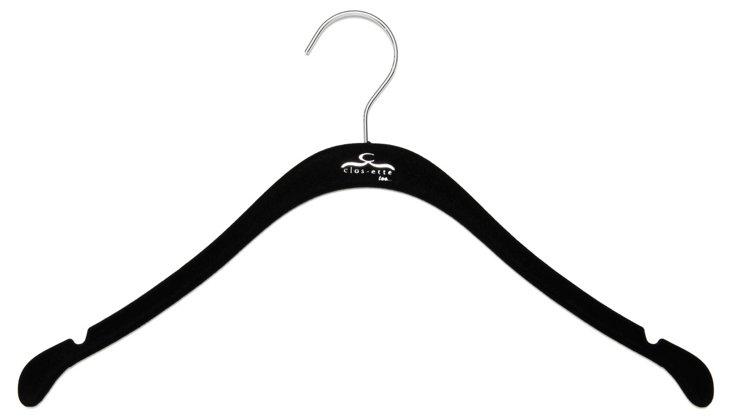 S/30 Slim Shirt Hangers, Black/Chrome