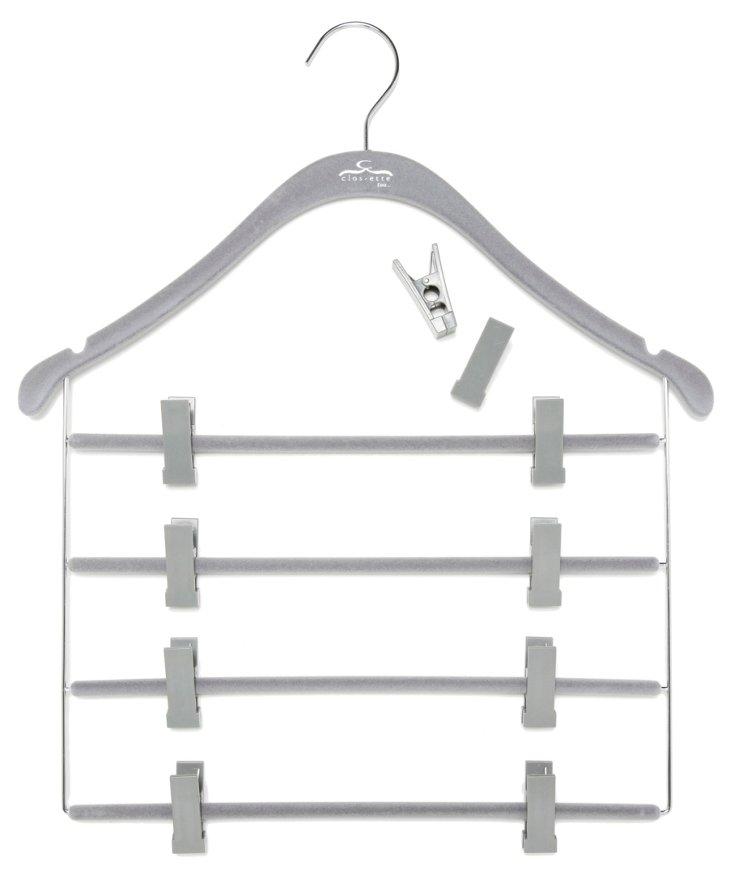 S/10 Slim Pant/Skirt Hanger w/ Clips