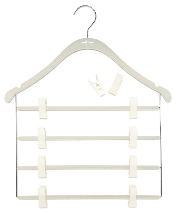S/5 Pant/Skirt Slim Hangers, White
