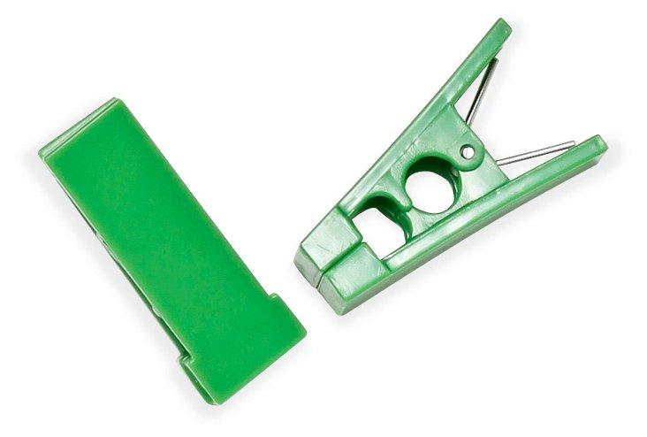 S/40 Hanger Bar Clips, Green