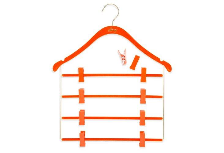 S/10 Pant/Skirt Hangers, Orange/Brass