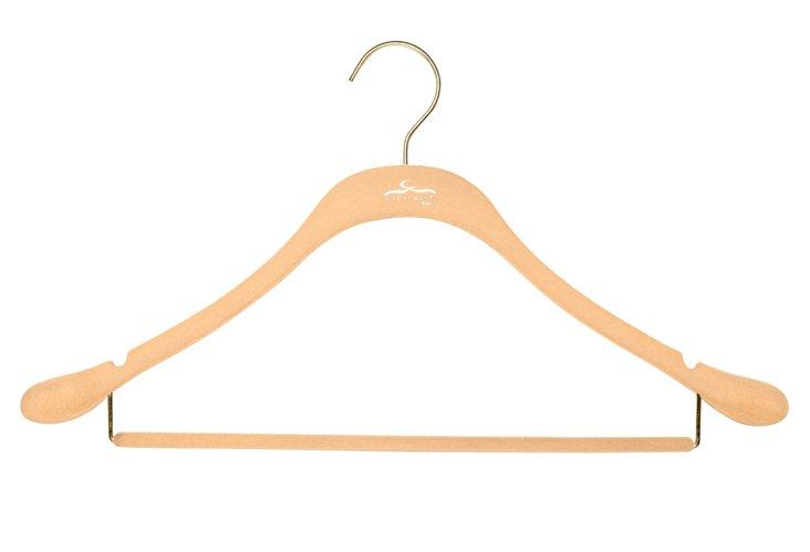 S/20 Slim Suit Hangers, Nude/Brass