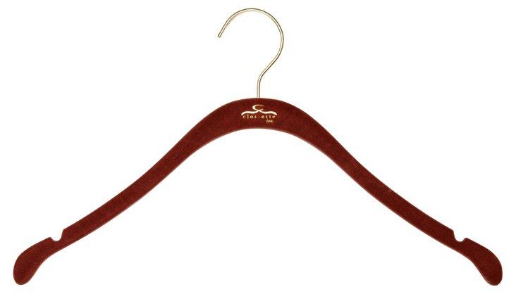 S/30 Slim Shirt Hangers, Brown/Brass