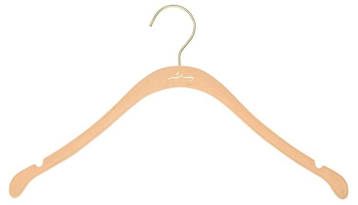 S/20 Slim Shirt Hangers, Nude/Brass