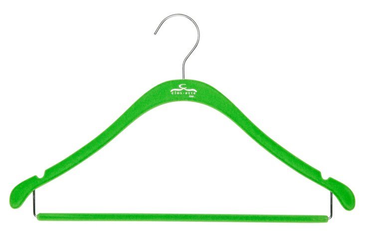 S/20 Shirt Hangers w/ Bars, Green/Chrome