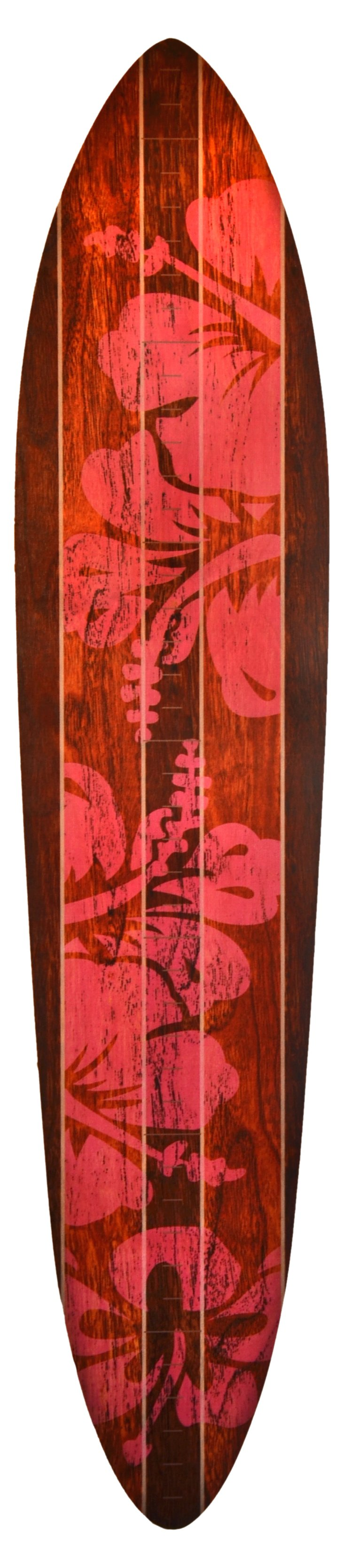 Surfboard Growth Chart, Brown/Pink