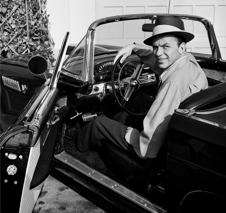 Frank Sinatra in TBird Lithograph