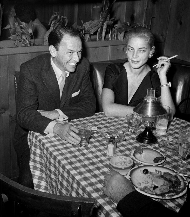 Frank Sinatra & Lauren Bacall Lithograph