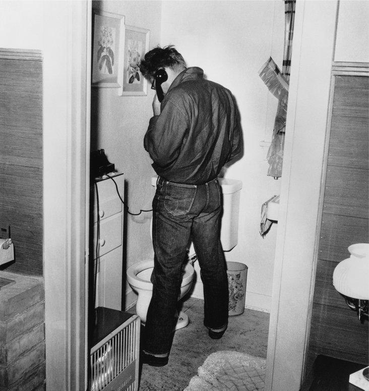 James Dean in Restroom Lithograph
