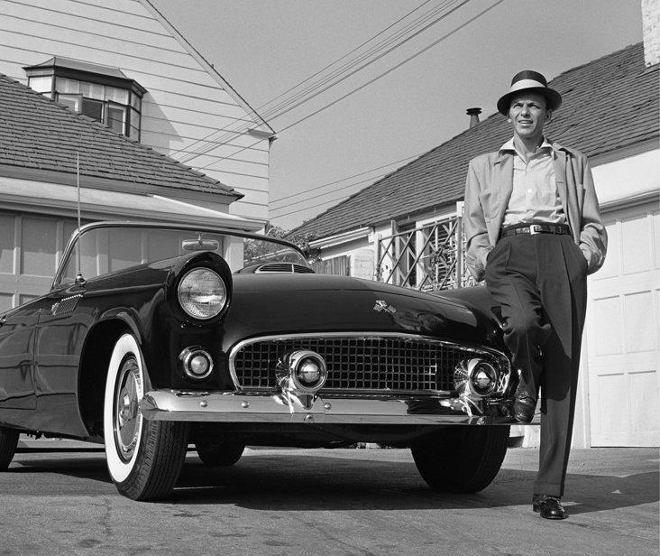 Frank Sinatra TBird Lithograph