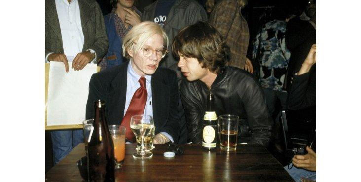 Aaron, Mick Jagger & Andy Warhol