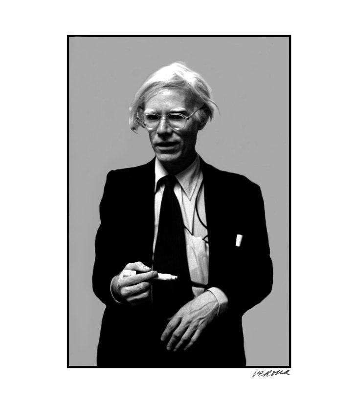 S. Verona, Andy Warhol B&W Print