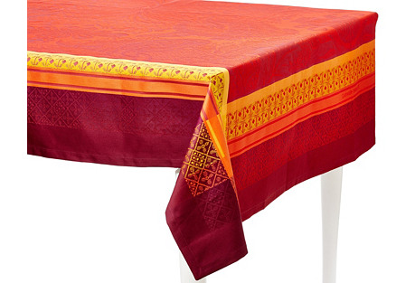Isaphire Feu Tablecloth, 69