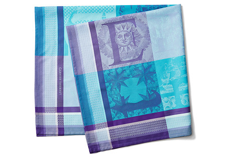 Marie Galante Outremer Tablecloth, Blue