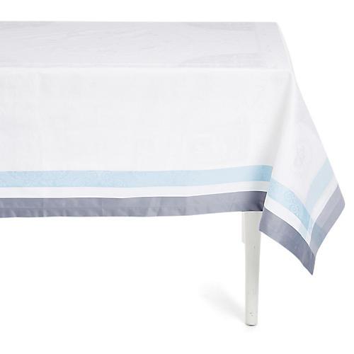 Bagatella Soie Tablecloth, White/Blue