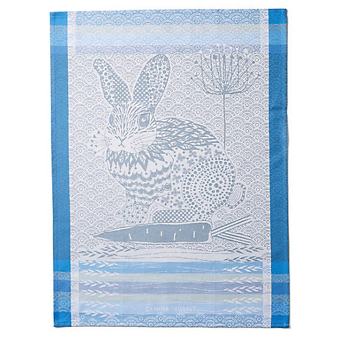 S/4 Lapin Kitchen Towels, Blue/Multi