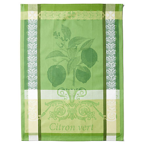 S/4 Citron Vert Kitchen Towels, Green/Multi
