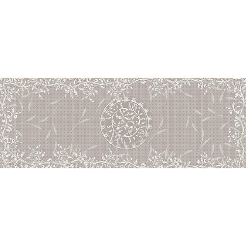 Wendorf Table Runner, Gray/White