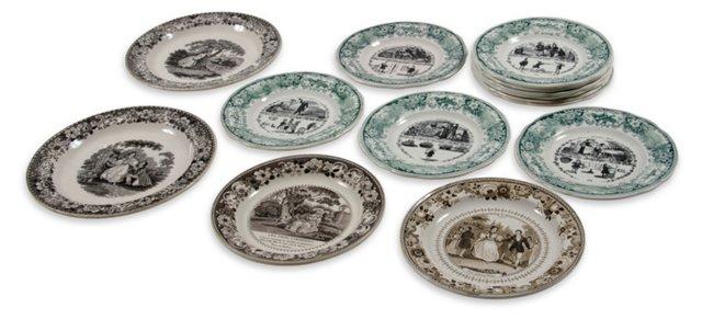 Creamware Collection, 14 Pcs.