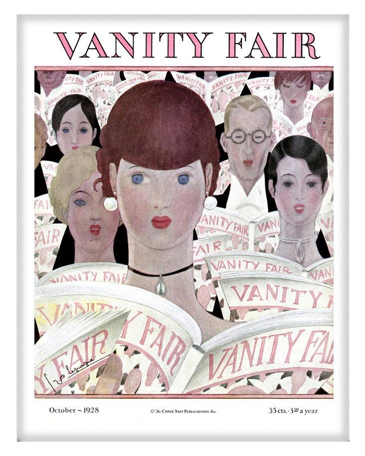 "14"" x 18"" Vanity Fair, October 1928"