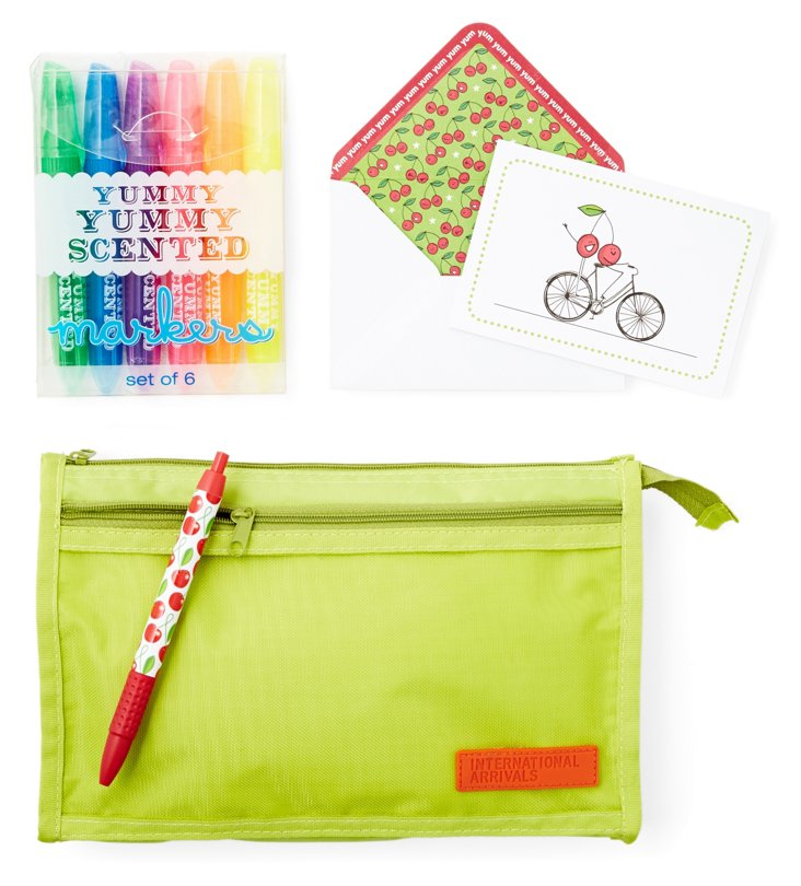 Barcelona Stationery Set, Cherry Scented