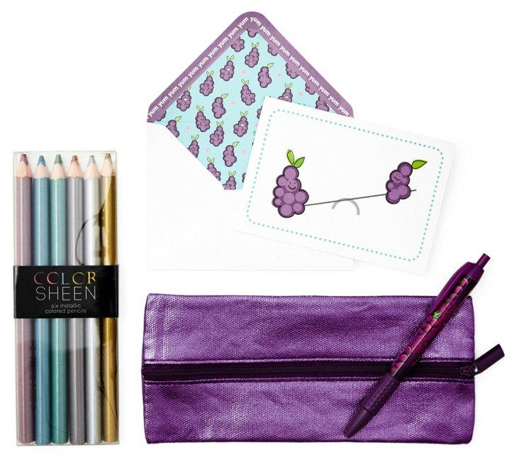 Purple Stationery Set, Grape Soda