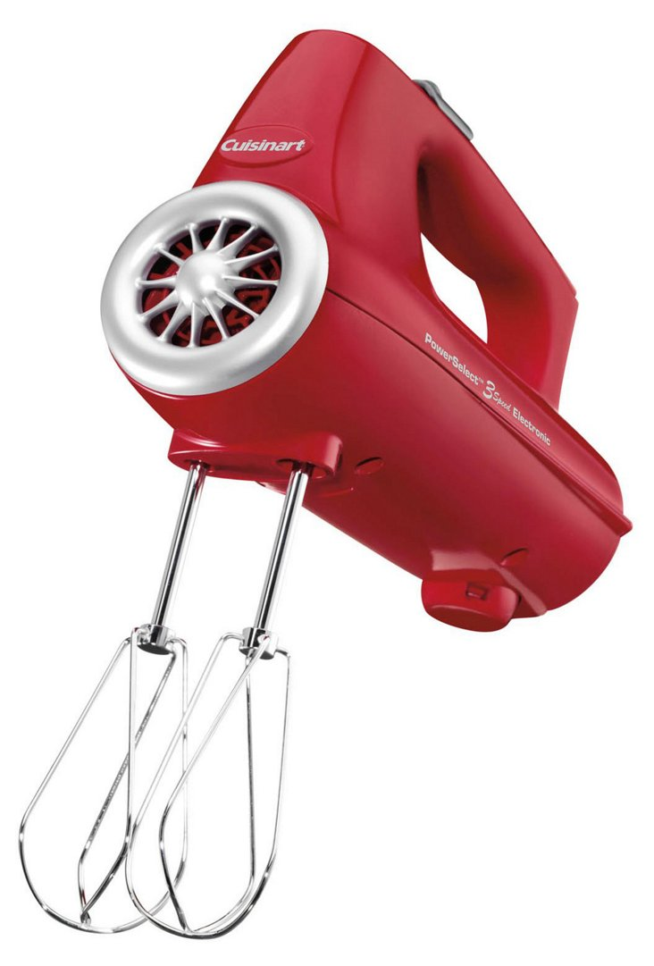 3-Speed Power Select Hand Mixer, Red