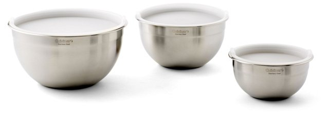 S/3 Assorted Mixing Bowls w/ Lids