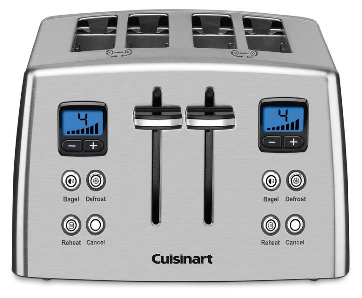 Countdown 4-Slice Toaster, Silver
